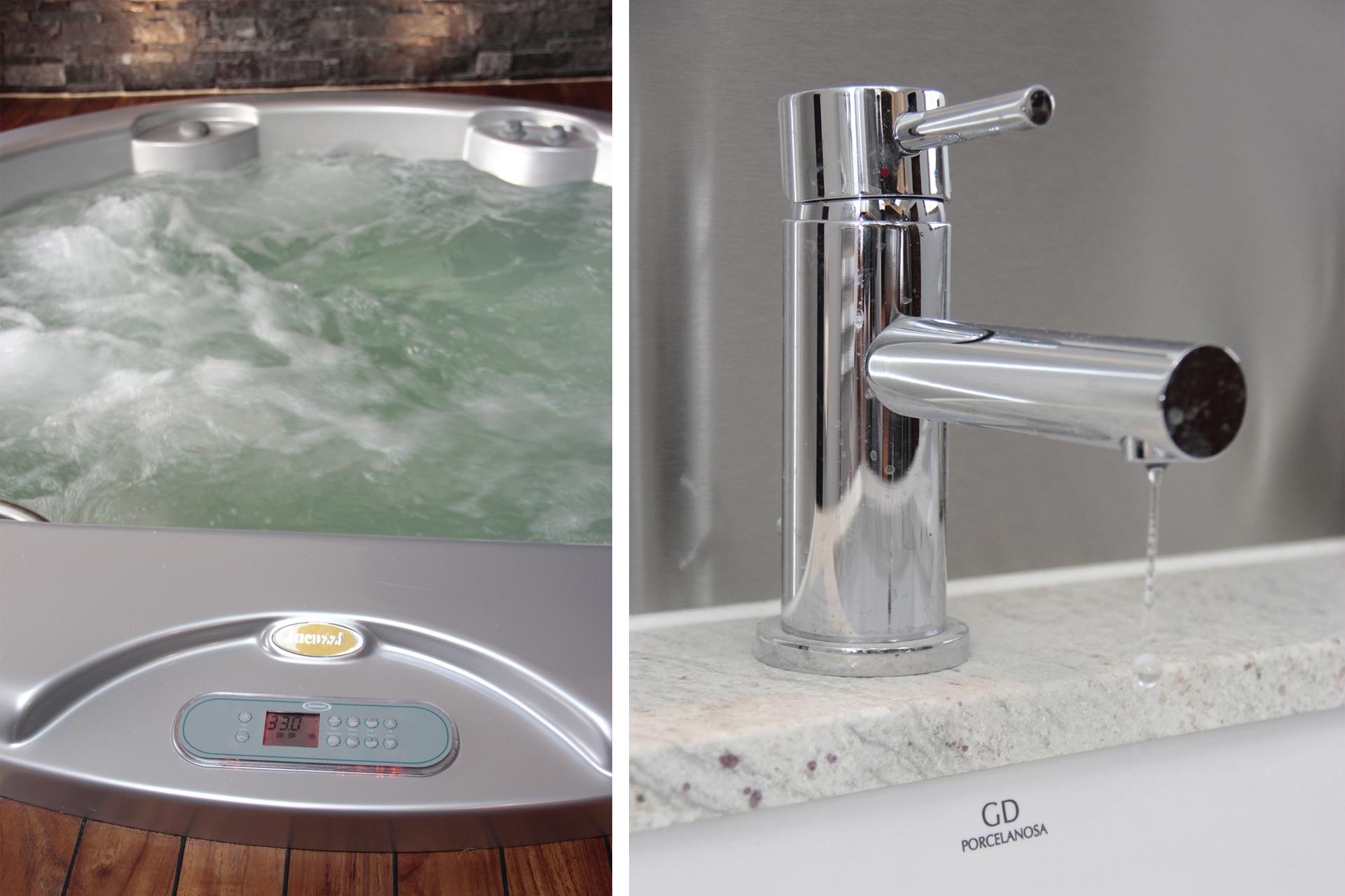 spa jacuzzi et robinet porcelanosa jou plomberie chauffage. Black Bedroom Furniture Sets. Home Design Ideas