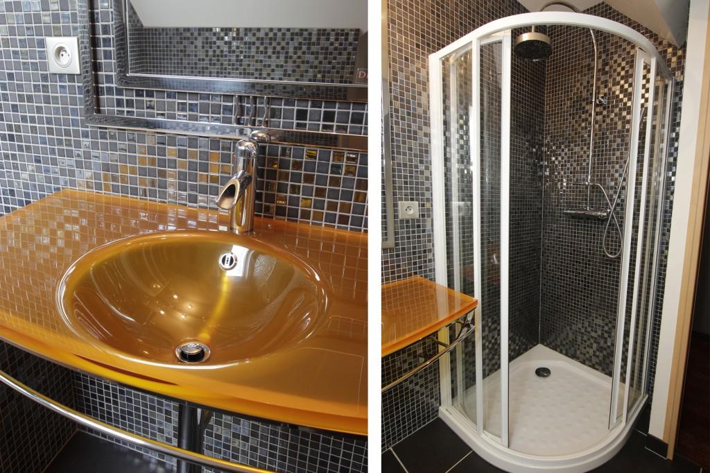 Vasque DECOTEC et douche