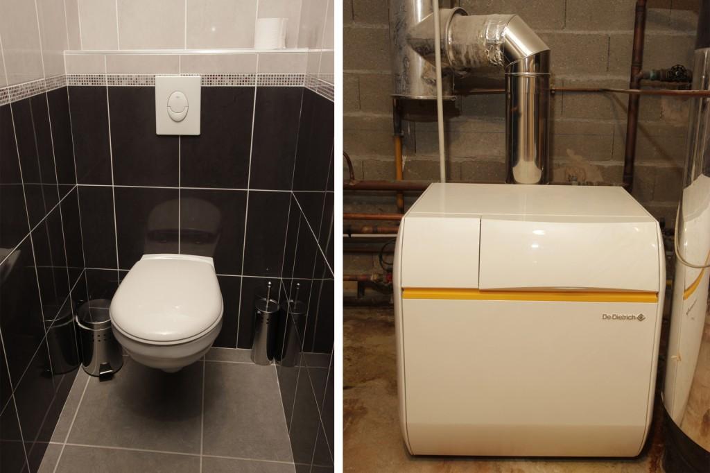 WC et chaudière de l'hôtel Cheops
