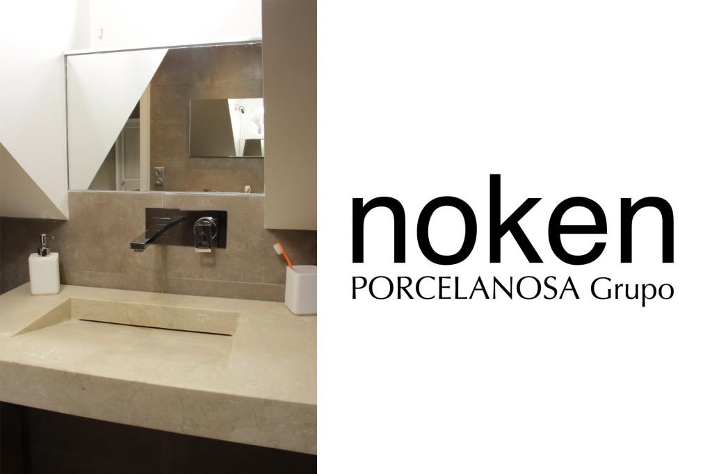 Lavabo en marbre PORCELANOSA + robinetterie NOKEN