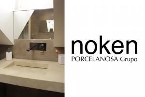 Seconde vasque PORCELANOSA avec une robinetterie NOKEN
